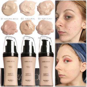MARIA AYORA Крем-основа для лица Крем-корректор Осветляет водостойким полным покрытием Профессиональный макияж Лицевая матовая основа для макияжа