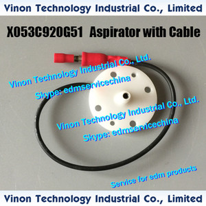 X053C920G51A Edm Mitsubishi SZ için Kablo Alt ile Aspiratör, SX, CX, FX, QA, RA, FA makineleri X053C829G54 X053C920G53 X053C920G55 edm aşınma parçaları