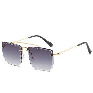 Double Beam Trimmed Square Sunglasses DPZ Hot Selling Steampunk Double Beam Men Sunglasses Women Retro 4PhzG Casecustom