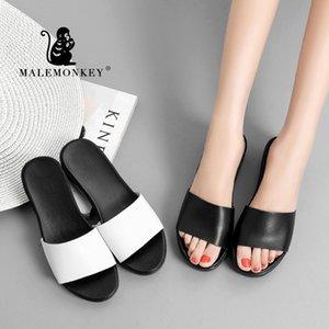 ERKEK MAYMUN 922273 Bayanlar Casual Platformu Terlik 2020 Yeni Yaz Açık Plaj Düz Kadın Ayakkabı Terlikler Bayan Terlik