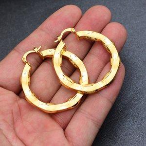 Африка Дубай Arab цвет золота серьги для женщин Эфиопии ювелирных изделий оптовой волна серьги Цветы серьги подарки