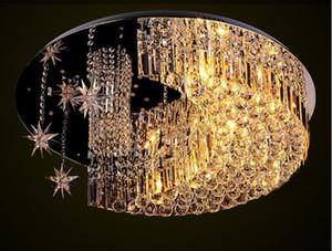 LED yıldız kristal tavan K9 lambaları ay sıcak ve yaratıcı tavan ışıkları Kristal kombinasyonu oturma odası çocuk yıldız LLFA