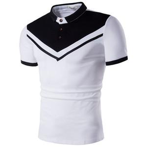 Sommer Herren Kontrastfarbe gestreift Polo Tshirts Mode männlich lässig Kurzarm Tshirts Herren Print Designer Bekleidung