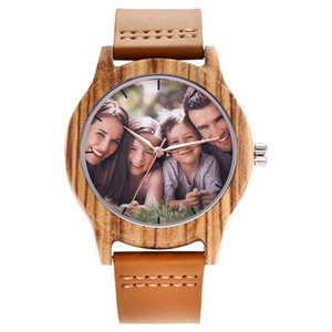 2020 Mens Brand Wooden Watch Personality Creative Design Customers Photos Customize Wristwatches Best Gift