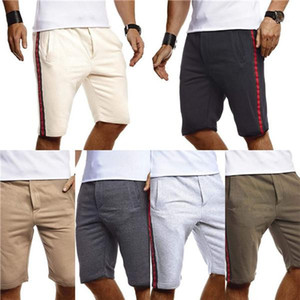 Length Trousers Solid Color Casual Male Shorts 2020 Mens Luxury Designer Short Pants Summer Sport Knee