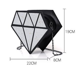 Mini Womem Eisbeutel Kuchentasche Pu-leder Nette Messenger Bags Candy Farben Kleine Größe Weibliche Kette Handtaschen 3d Laser Diamant Tasche