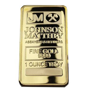 Brand new JM Johnson matthey 1 oz Pure 24K real Gold Plated Bullion Bar Free Shipping
