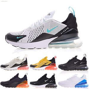 Nike air max 270 NEW Men Women Running Shoes Formadores Racet Sports Trainers Beture Triplo Black White Grey Designer esportes Sneakers tamanho 36-45