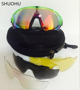 Erkek Kadın Spor Bisiklet Gözlük Bisiklet Koşu Mens Güneş gözlükleri için 5 Lens Marka Polarize Jawbreaker Güneş gözlükleri ile Toptan-Güneş Gözlükleri