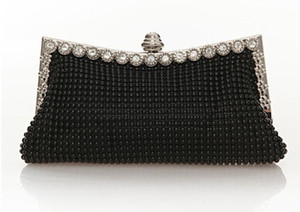 2019 Gorgeous Sparky Crystal Women Bridal Hand Bags For wedding Gold Evening Clutches Chain Bag Beads Tassel Bridal Bags Party Blingbling