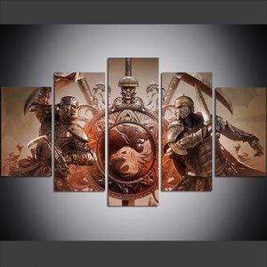 5 Pièce Grande Taille Mur Mur de Toile Art Photos Creative Honour Honor Ombre Et Peut Art Imprimer Peinture à L'huile pour Salon