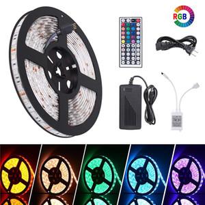 LED-Streifen Flexible SMD 5050 RGB LED-SMD-Streifenleuchten mit 24 Tasten, 44 Tasten, Fernbedienung + DC 12V 5A-Adapter