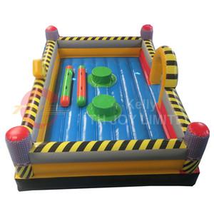 juegos de deporte inflables comerciales de demolición tubos inflables zona gladiador justa china Precio barato juegos interactivos inflables