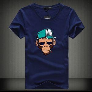 2020 verão fresco camisetas de TShirts Cotton Plus Size 5XL Tees macaco impressão Sleeve Men Short Masculino TShirts Camiseta T-shirt Homme