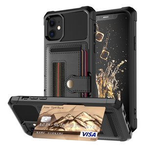 Shockproof PU Leather Hand Strap Stand Card Slots Wallet Case For iPhone 11 Pro Max XS Max XR X 8 7 6 Plus