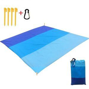 Outdooor Picnic Mat bolso Praia Mat Picnic Tent cama dobrável-Cover Blanket Camping Areia-Free impermeável toalha de praia