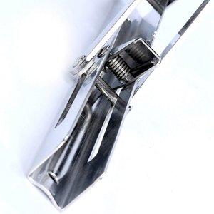 4 Pcs polie en acier inoxydable de pliage du rayon Banc Table pliante mur ou support d'étagère Activité rack Support Triple cornes