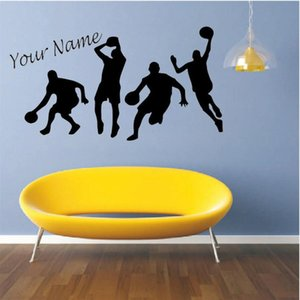 Basketball Sports play basketball Wall Decal Personalized Kids Boys room Vinyl Sticker Custom Name Basketball Star Decor