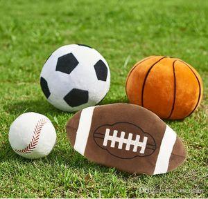 Boule Jouets Imitation Football Basket Poupées Baseball Sphère Jouets en peluche colorés Coussin sphérique Poupées Cadeaux Creative Anniversaire TLYP10