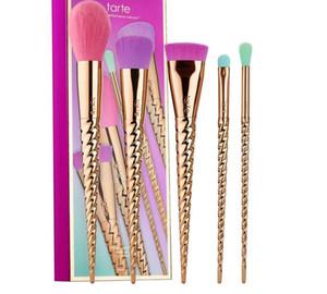 Pinceaux de maquillage Ensembles Cosmétiques Brush 5 Couleur lumineuse Rose Gold Spirale Semelle Brosse Brosse de maquillage Licorne Outils de maquillage DHL Livraison gratuite