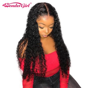 Water Wave 13X4 Lace Front Human Hair Wigs For Women Black Pre Plucked With Baby Hair Remy Malaysian Curly Lace Wig Wonder girl