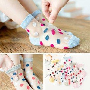 Crianças Socks bebê fina de Ondas de Socks infantil Meninas Verão malha respirável linda princesa Sock Crianças Moda Casual Tubo Meias CYP807