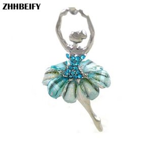 ZO14 Drop shipping Dancing Ballerina Necklace Crystal Dancer Dance Pendant Charm Designer Fashion Jewelry