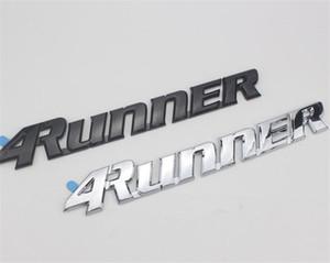 Car Styling 25 * 3.5cm de haute qualité en plastique ABS 4Runner Emblem Badge coffre arrière latéraux Logos corps Voitures Autocollants Noir Argent