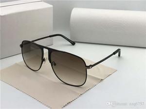 Nuevo diseñador de moda gafas de sol DAN placa marco cuadrado metal gota aceite piernas calidad superior popular estilo simple lente uv400