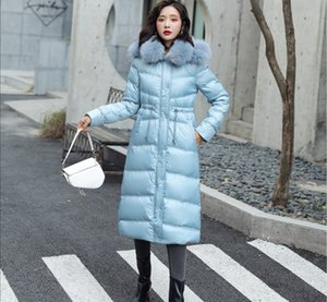 Winter Ladies Temperament Korean Women's Wear Long-sleeved hooded down jacket