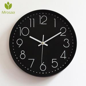 Nueva Moda Vintage Relojes de pared redondos Relojes de plasma modernos Cuarzo Horloge Wathces Hogar Dormitorio Salones Cocina Pared