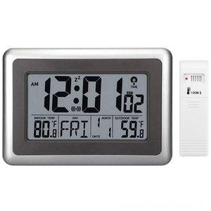 Digital Atomic Wall Clock Desk Alarm Clock Battery Operated With Wireless Sensor 300 Ft Clocks Home Dcor 100 Meter Range Large Lcd Display
