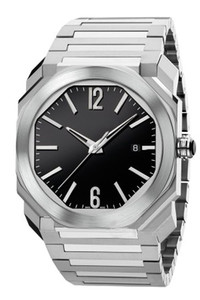 Nuevo reloj para hombre 38MM Dial Serie OCTO alta calidad de cristal de zafiro mecánico automático de acero inoxidable Correa reloj de pulsera 102105 BGO38C3SSD