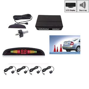 1Set Car Parktronic LED Parking Sensor With 4 Sensors Reverse Backup Car Parking Radar Monitor Detector System Backup Assistance