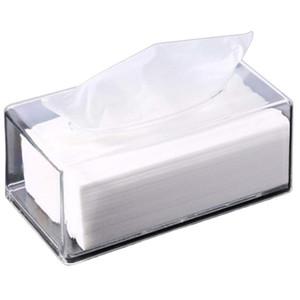 1Pcs Transparente Tissue Box Grande Abertura guardanapo Titular durável Sala Início Organizador Paper Dispenser