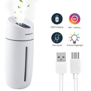 Portable Mini Humidifier,260ml ,USB Mist Humidifier for Bedroom Office Car,Auto Shut-Off