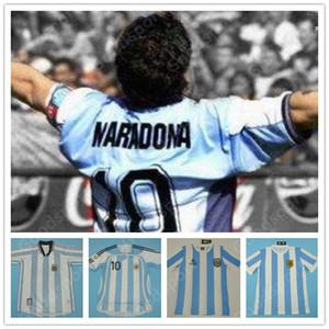 RETRO jersey Argentine 86 78 98 06 10 Diego Maradona GALLARDO ORTEGA chemise du football du football Messi Batistuta CRESPO RIQUELME Caniggia Kempes