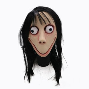 Halloween Party Mask For Adult Full Face Mask Hot Game MOMO SCARY Tern Hot Halloween Female Ghost Wig Cosplay Party Mask HH9-2435