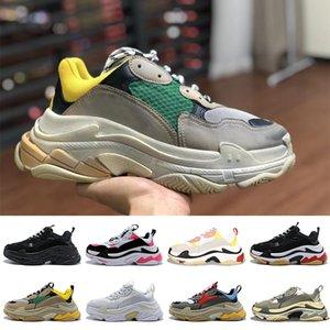balenciaga triple s Lüks Tasarımcı tripler Çiftleri 17FW Üçlü S Platformu Kadın Erkek Rahat Ayakkabılar Yayın Parça 3.0 Tess Gomma Maille üçlü s sneakers