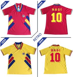 루마니아 레트로 1994 축구 유니폼 (6)는 10 MAXIM 홈 레드 도로를 멀리 노란색 저지 (94) 축구 셔츠 유니폼 CHIRICHES