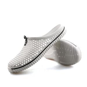Vendita calda-SAGUARO Pantofole Estate Uomo 2018 Nuovo Scava Fuori Sandali da spiaggia Traspirante Scarpe Unisex Casual Slip-on Appartamenti Infradito zapatos