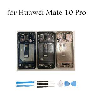 Para huawei mate 10 pro meio quadro placa da caixa moldura bezel faceplate lcd suporte de quadro frontal reparação de peças de reposição