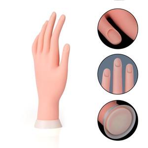Bükülebilir Masa Dağı Yumuşak Manikür Uygulaması Modeli Nail Art Eğitim Sahte El Yeniden kullanılabilir uygulama eli manken eli tırnak tasarımı