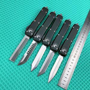 De gama alta! Cuchillo automático de la Micro-tecnología de doble acción mango UTX85 AUTO cuchillos D2 Aviación aluminio de la lámina que acampa cuchillos tácticos cuchillo de bolsillo