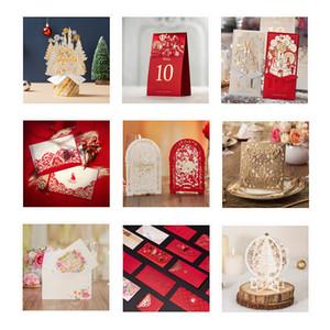 Образец - приглашения свадебные карты персонализированные пригласительные билеты Многие стили для выбора бесплатная доставка свадебные образцы зарядки