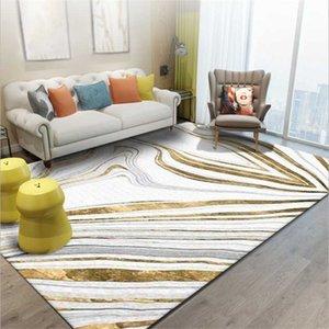 Padrão AOVOLL Moda Nordic Ouro Estilo Abstract linhas de pedra do tapete tapetes e carpetes para Home Living Room Tapete da sala dos miúdos