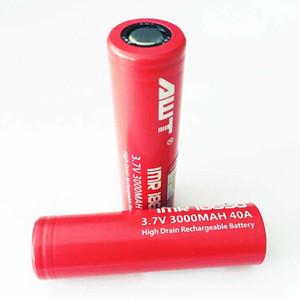 100% original AWT 18650 Battery 40A 3000mAh 3.7V Li-ion Battery 18650 for Joyetech Cuboid PRO Evic Primo HCIGAR VS VTC4 VTC6 Battery W037
