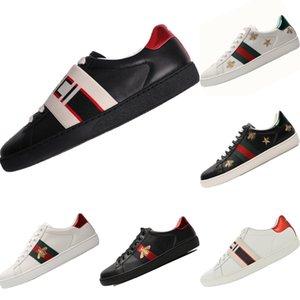 2020 Cucci Ace İşlemeli küçük arı Casual Sneaker Originals Ace Küçük Arı İşlemeli Düşük Cut Dahili Zoom Air Kaykay Ayakkabı