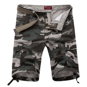 New Men's Camouflage Summer Combat Tactical Multi-pocket Cargo Shorts Men Army Short Pants Casual Straight Leg Working Short Trousers