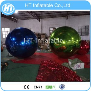 Free Shipping Factory Custom 1m Large Inflatable Disco Mirror Balloon Gold Silver Inflatable Sphere Mirror Ball